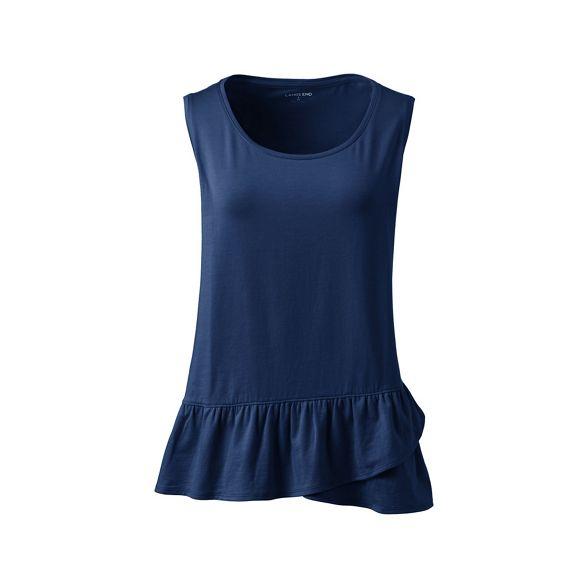 top hem End ruffle vest Blue Lands' with AtqY17