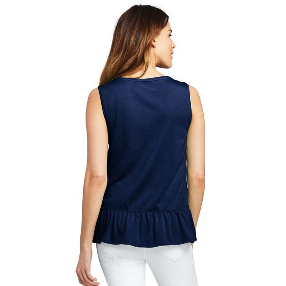 top hem End ruffle vest Blue Lands' with AtqY17