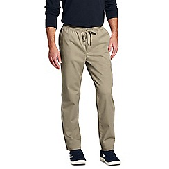 Lands' End - Beige trousers with elastic waist