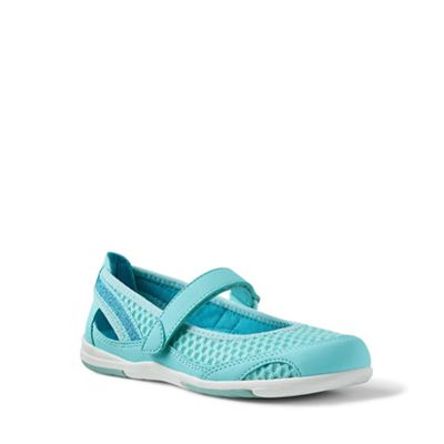 Lands' End - Girls' blue water shoes