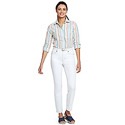 Lands' End - White womens mid rise slim ankle white jeans