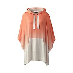 Lands' End - Orange french terry hooded dip-dye poncho
