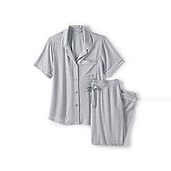 Lands' End - Grey modal short sleeve pyjama set