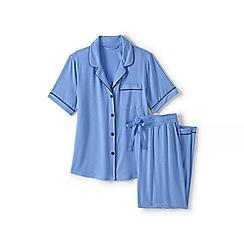 Lands' End - Blue modal short sleeve pyjama set
