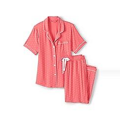 Lands' End - Orange modal short sleeve patterned pyjama set