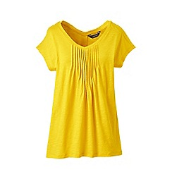Lands' End - Yellow summer top with pintucks