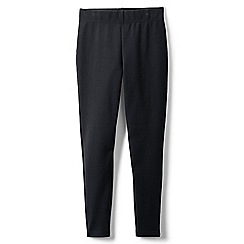 Lands' End - Black girls' iron knees ankle length leggings