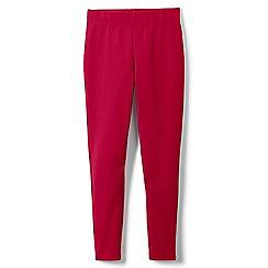 Lands' End - Red girls' iron knees ankle length leggings