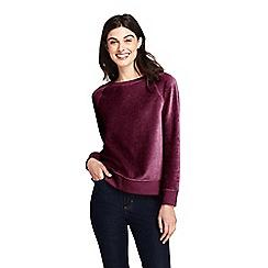 Lands' End - Red velour sweatshirt