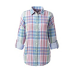 Lands' End - Pink fabulous double cloth is twice as nice shirt