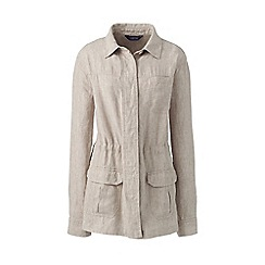 Lands' End - Cream womens casual linen jacket