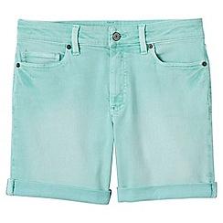 Lands' End - Blue womens roll hem denim shorts