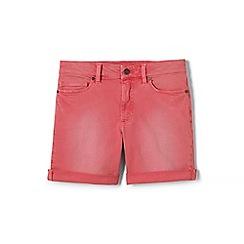 Lands' End - Pink womens roll hem denim shorts