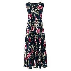 Lands' End - Blue women's floral midi dress