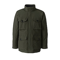 Lands' End - Green squall military waterproof jacket