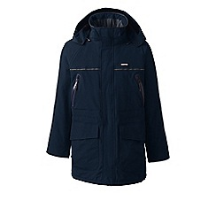 Lands' End - Blue tall squall waterproof parka