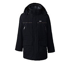 Lands' End - Black tall squall waterproof parka