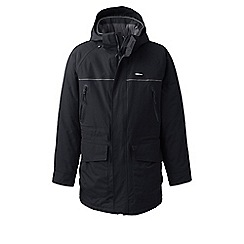Lands' End - Black squall insulated waterproof parka