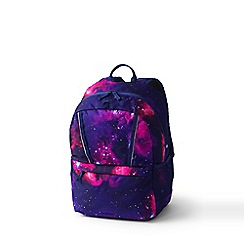 Lands' End - Purple Girls' Print Classmate Medium Backpack