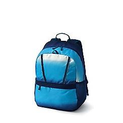 Lands' End - Blue girls' print classmate medium backpack