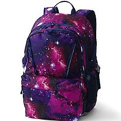 Lands' End - Purple girls' print classmate large backpack