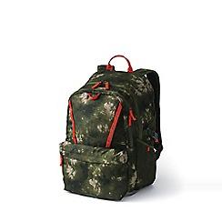 Lands' End - Green boys' print classmate large backpack