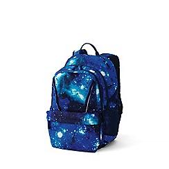 Lands' End - Blue boys' print classmate large backpack