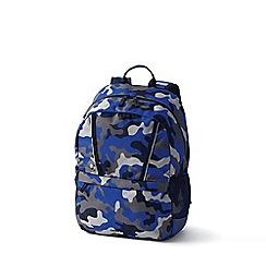 Lands' End - Blue boys' print classmate medium backpack