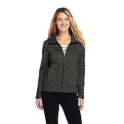 Lands' End - Black funnel neck fleece jacket