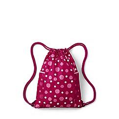 Lands' End - Pink kids' packable print drawstring bag