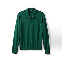 Lands' End - Green fine gauge polo shirt