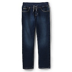 Lands' End - Blue boys' iron knees pull-on stretch jeans