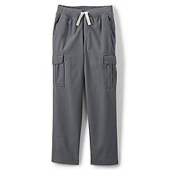 Lands' End - Grey boys' iron knees pull-on cargo trousers