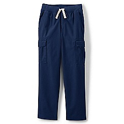 Lands' End - Blue boys' iron knees pull-on cargo trousers