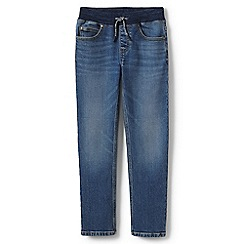 Lands' End - Blue toddler boys' iron knees pull-on stretch jeans