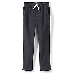 Lands' End - Grey boys' iron knees pull on cord trousers