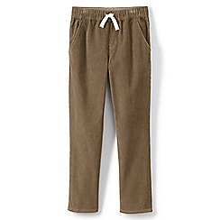 Lands' End - Beige boys' iron knees pull on cord trousers