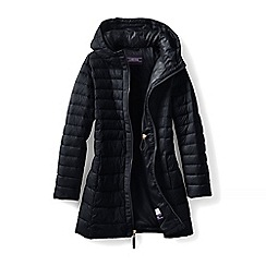 Lands' End - Black girls' thermoplume coat