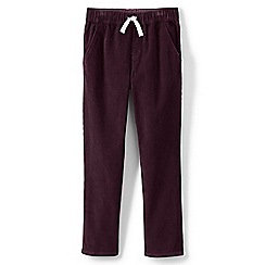Lands' End - Red toddler boys' iron knees pull on cord trousers