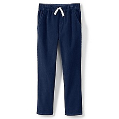 Lands' End - Blue toddler boys' iron knees pull on cord trousers