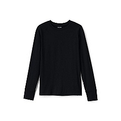 Lands' End - Black stretch thermaskin crew neck thermal top