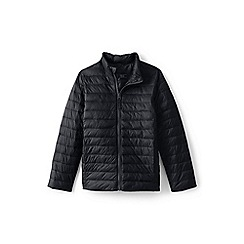 Lands' End - Black kids' packable thermoplume jacket