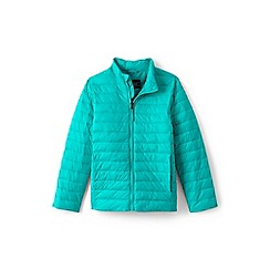 Lands' End - Blue toddler kids' packable thermoplume jacket