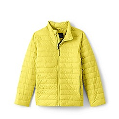 Lands' End - Yellow Kids' Packable Thermoplume Jacket