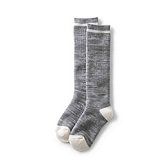 Lands' End - Grey kids' thermal boot socks