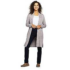 Lands' End - Grey womens cloud spun longline cardigan
