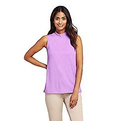 0ecccd0ecc64a Lands  End - Purple womens high neck sleeveless top