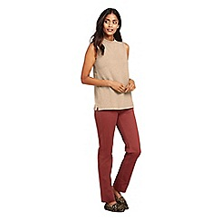 Lands' End - Beige plus high neck sleeveless top