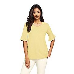 Lands' End - Yellow womens petal sleeve top