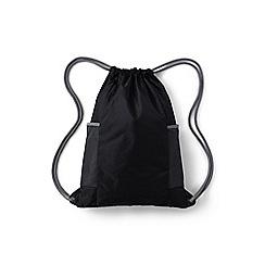 Lands' End - Black kids' packable drawstring bag